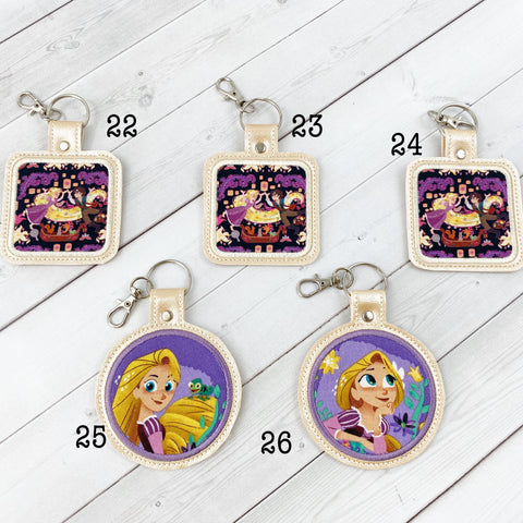 Keyrings - Long Haired Princess