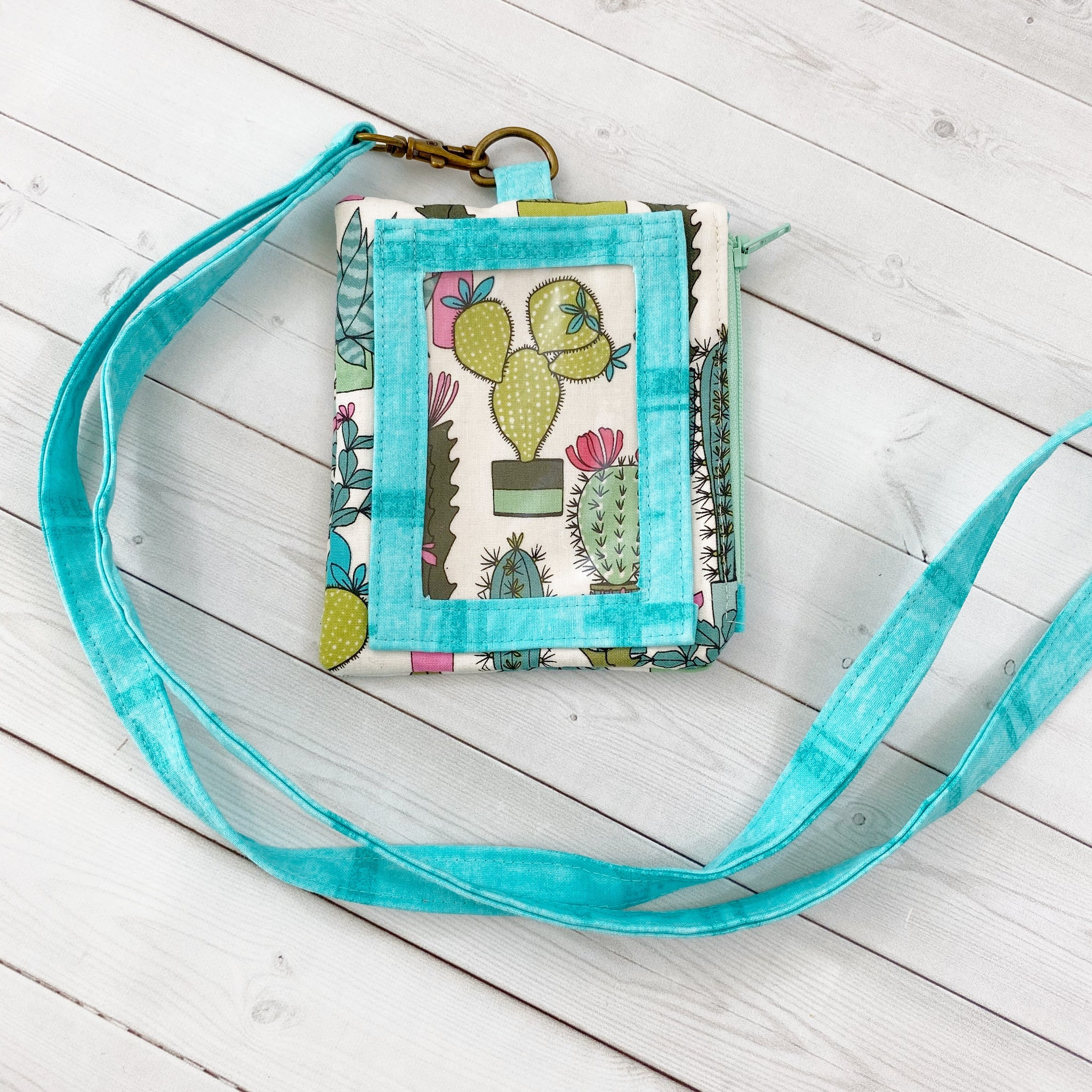 ID Pouch Lanyard - Cacti