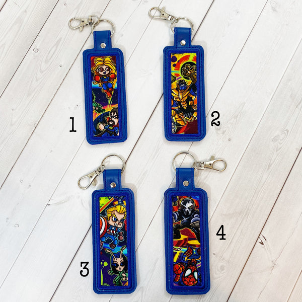 Lip Balm Holders - Superheroes