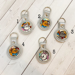Mini Keyrings - Parisian Kittens