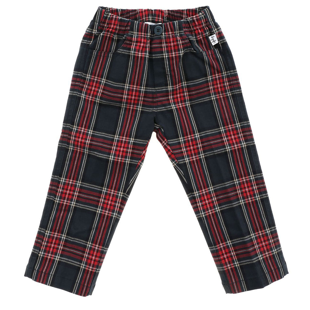 Pantalone baby boy in cotone stretch check