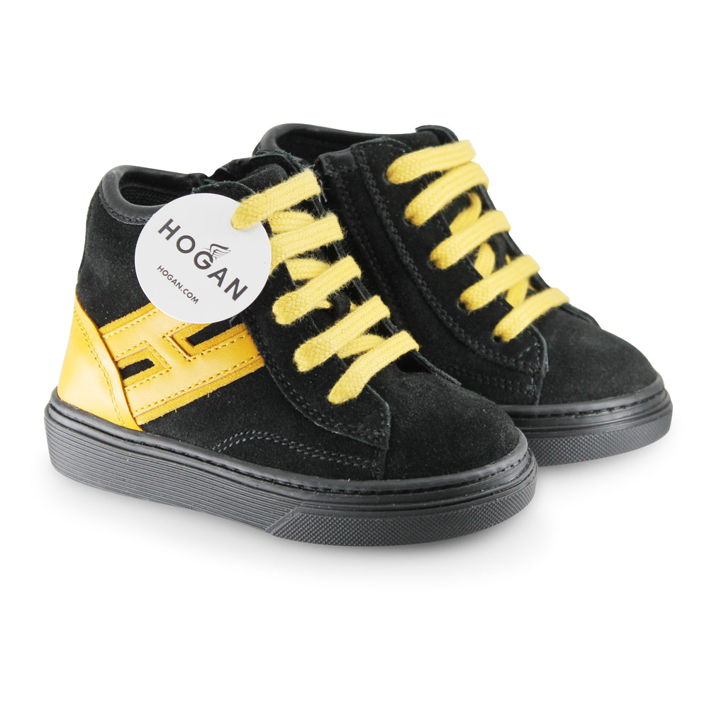 Hogan Junior sneakers baby nera con logo