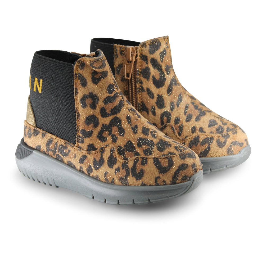 Hogan Junior stivali leopardati bambina in suede