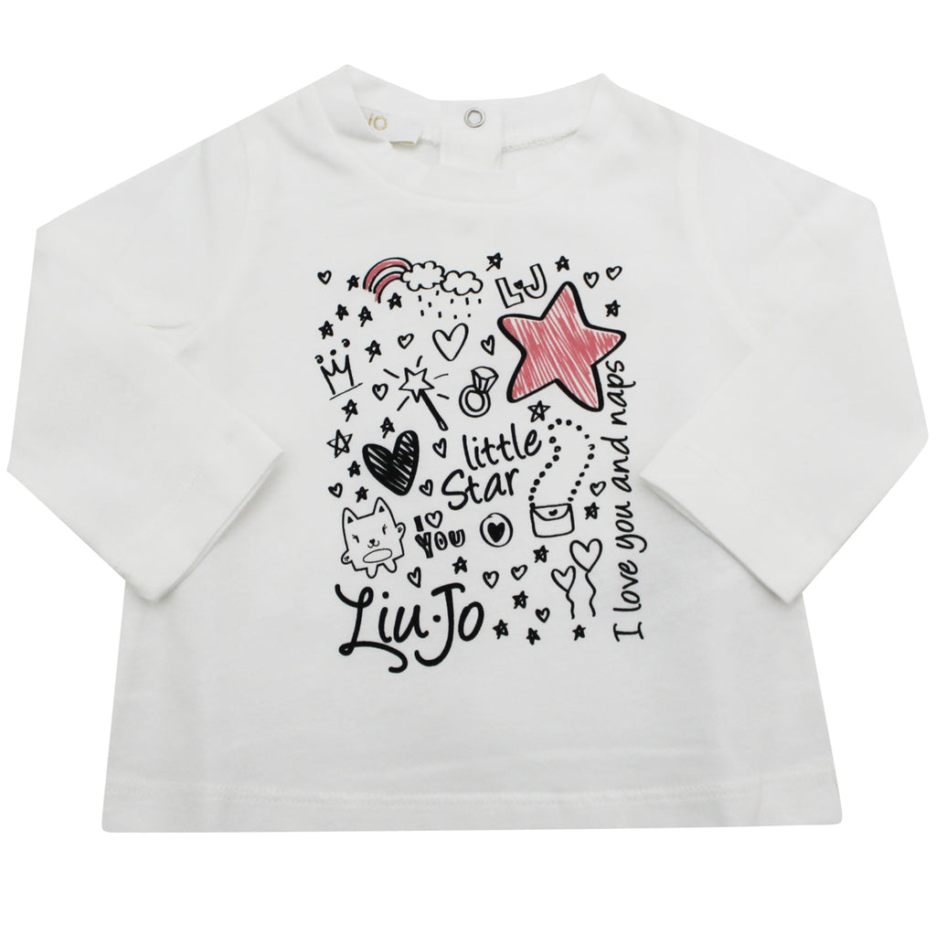 Liu Jo t-shirt baby girl bianca in cotone stretch