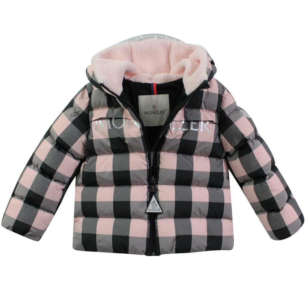 Moncler Enfant giacca Avila baby girl fantasia check in nylon