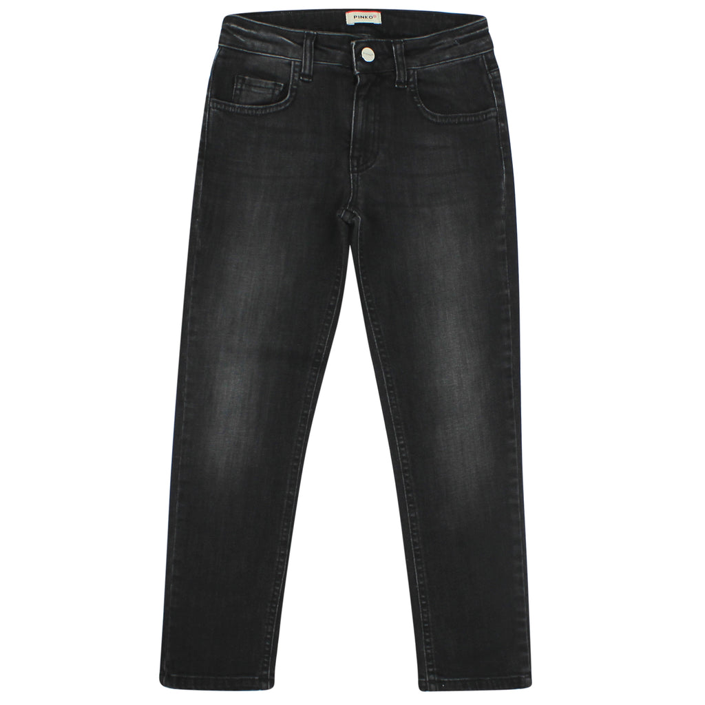 Pinko jeans teen nero in cotone stretch
