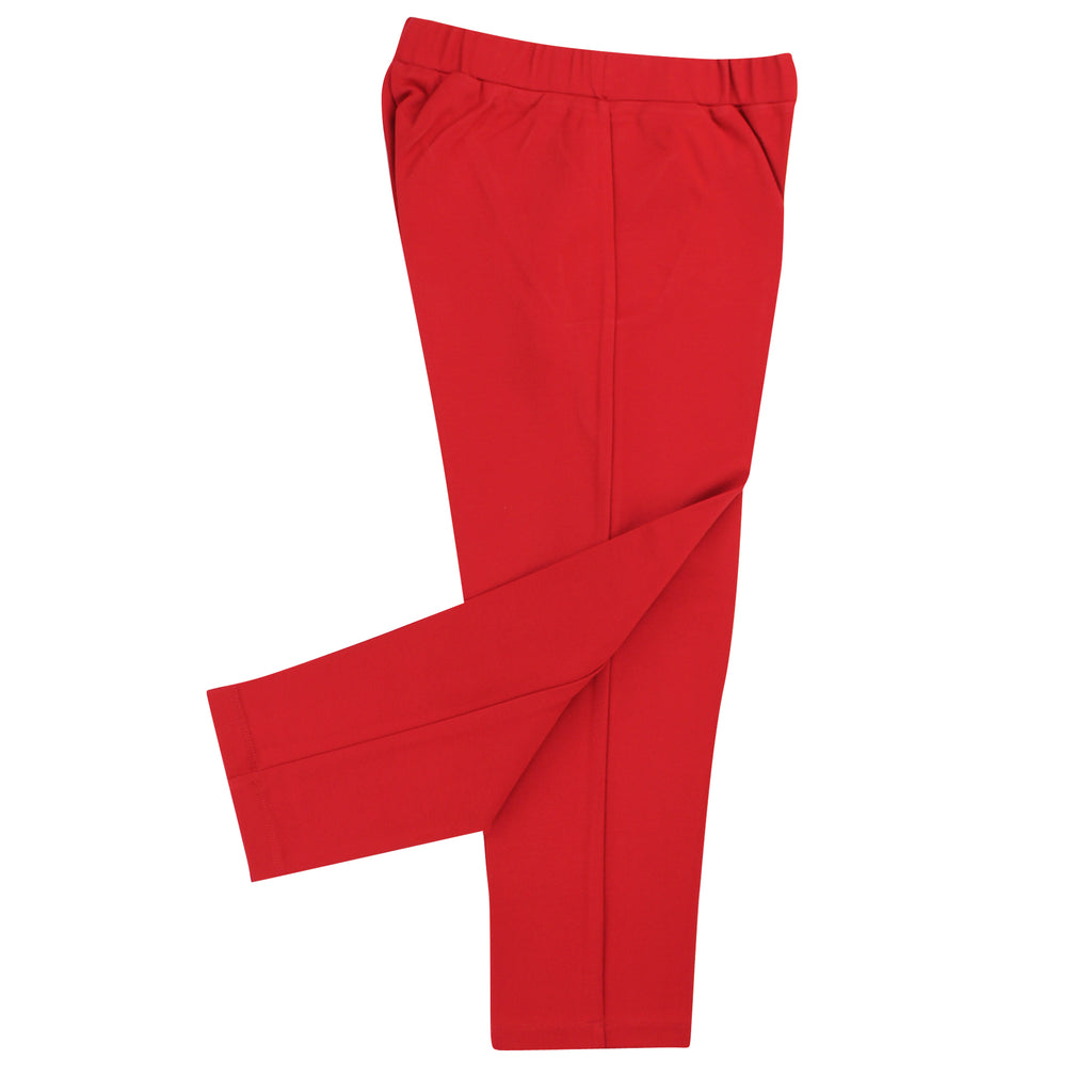 Twin Set Simona Barbieri leggings rosso teen in viscosa