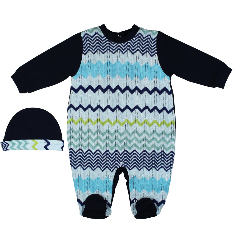 Set baby boy in jersey di cotone multicolor