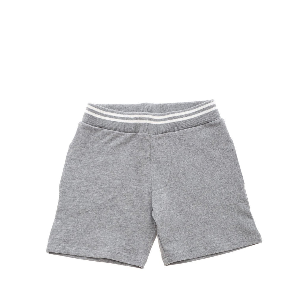 Baby short in gray fleece