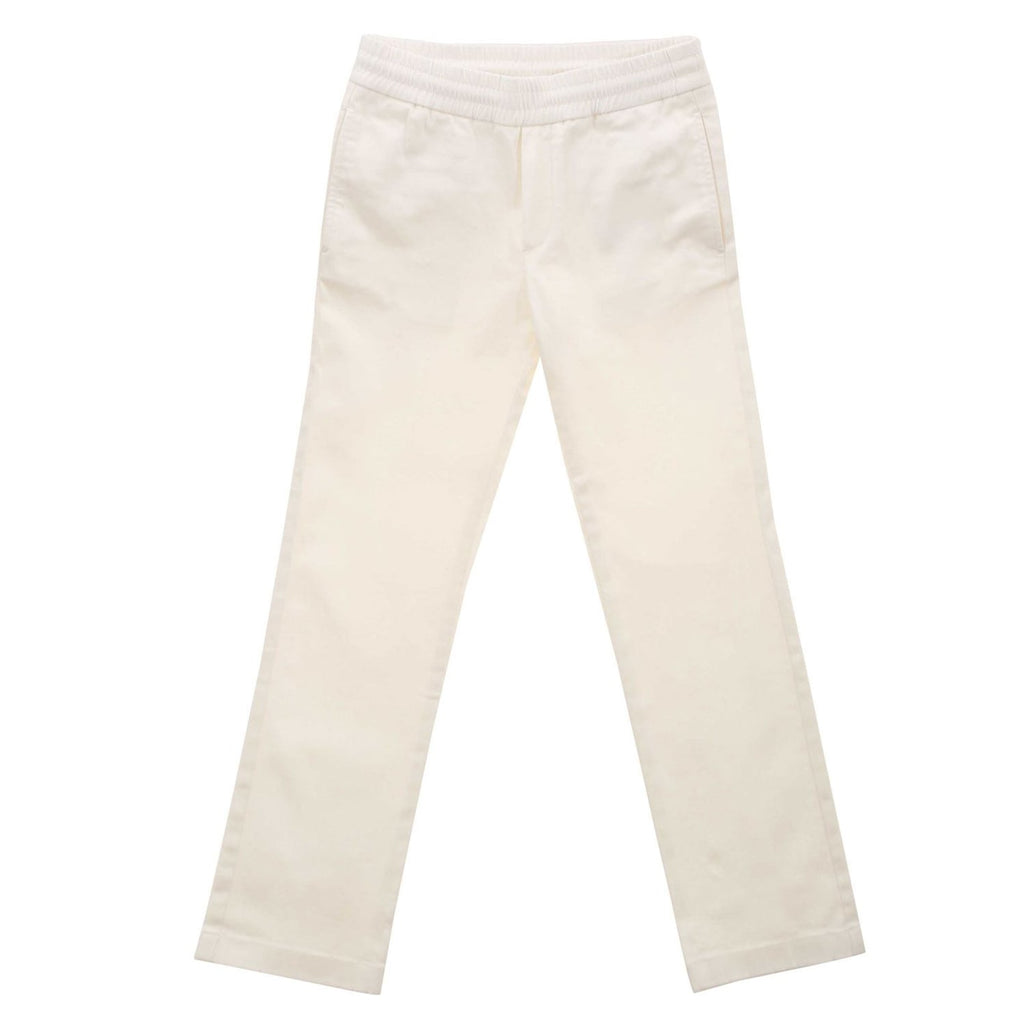 Baby pants in cotton twill stretch cream