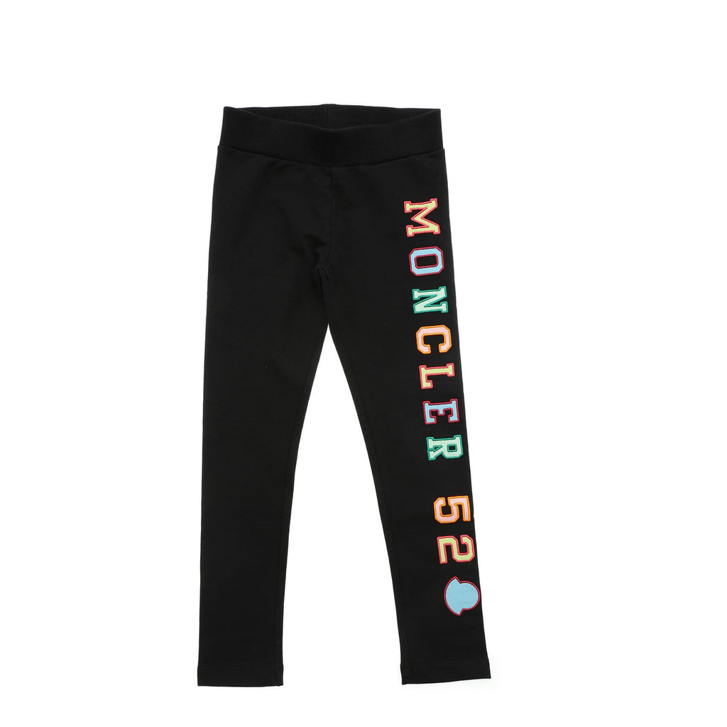Pantalone bambina in cotone stretch nero