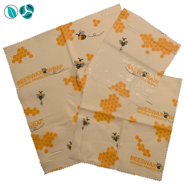 3pc Beeswax Food Wraps - Golden Honeycomb - Beeswax Food Wraps