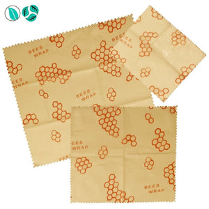 3pc Beeswax Food Wraps - Honeycomb - Beeswax Food Wraps