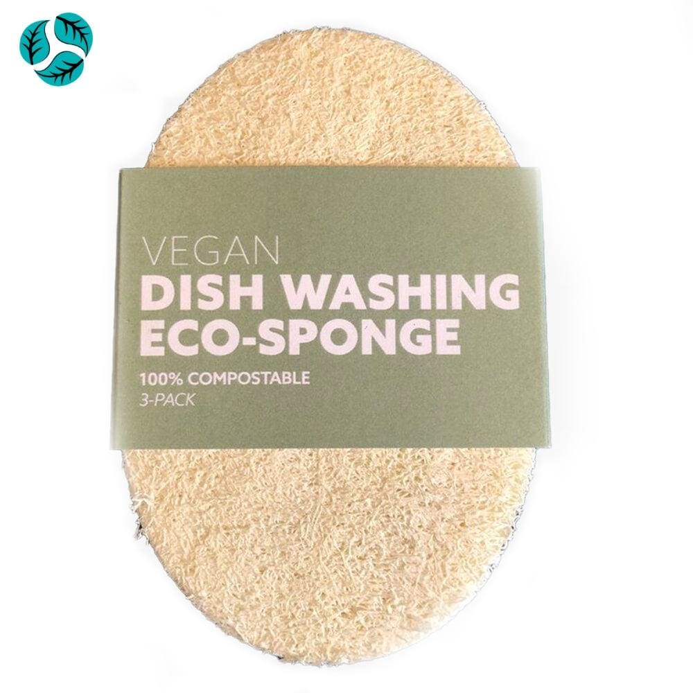 3pc Vegan Dishwashing Eco-Sponge - Scrubber