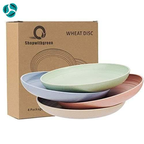 4pc Wheat Straw Plastic Plates - Plates