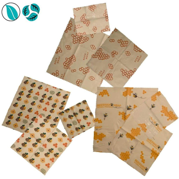 9pc Beeswax Food Wraps - Beeswax Food Wraps