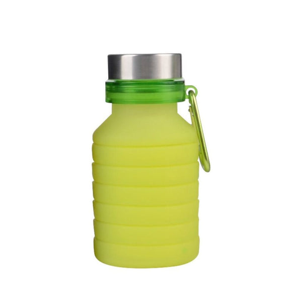 Folding Silicone Water Bottle - Green - Water Bottle