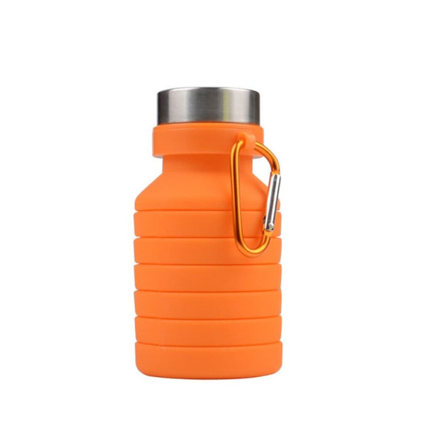 Folding Silicone Water Bottle - Orange - Water Bottle