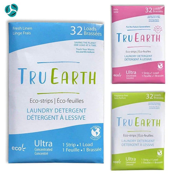 Tru Earth Eco-Strips Laundry Detergent (Fragrance-free) - Laundry
