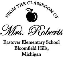 Load image into Gallery viewer, Mrs. Roberts Teacher - Self-Inking Stamper