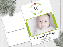 Load image into Gallery viewer, Monogram Wreath - Custom Photo Card