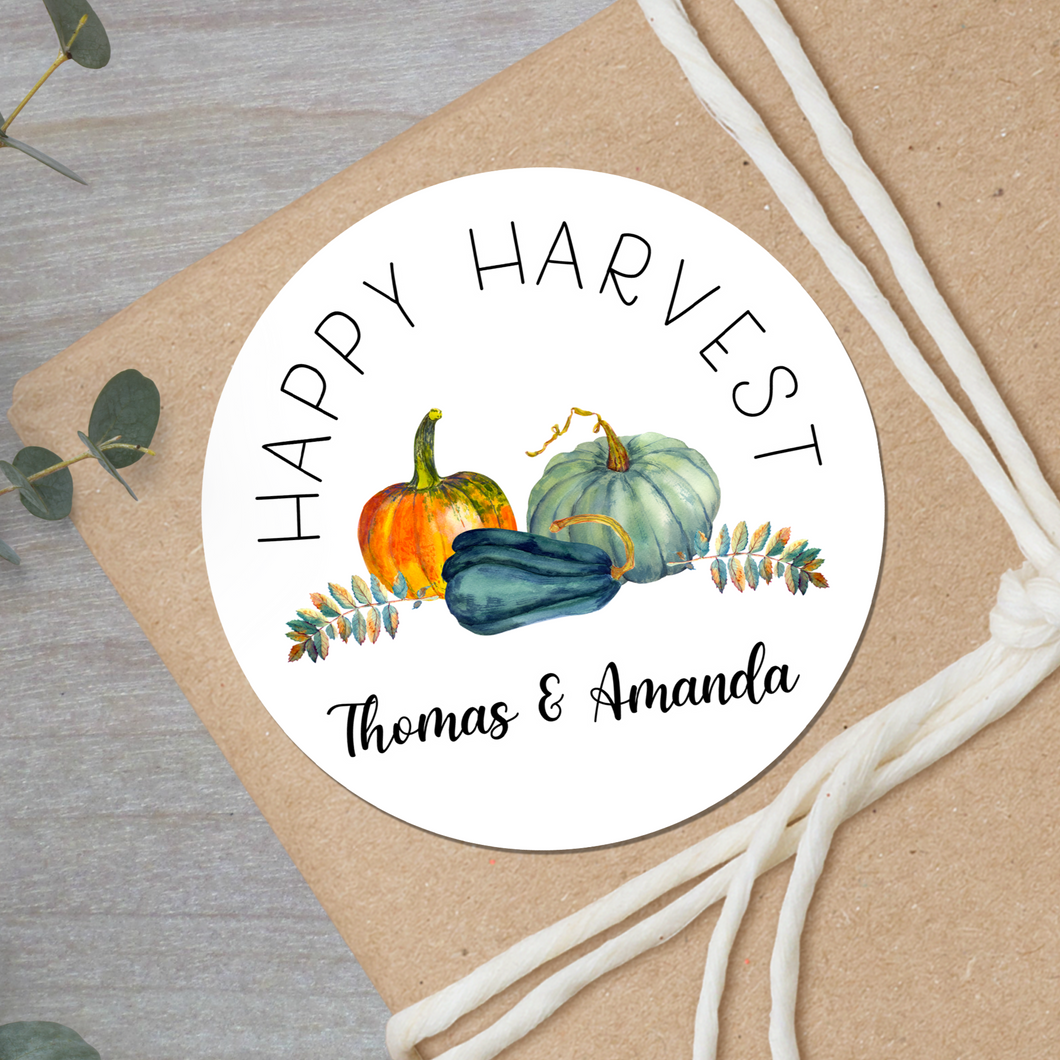 harvest pumpkins gift sticker
