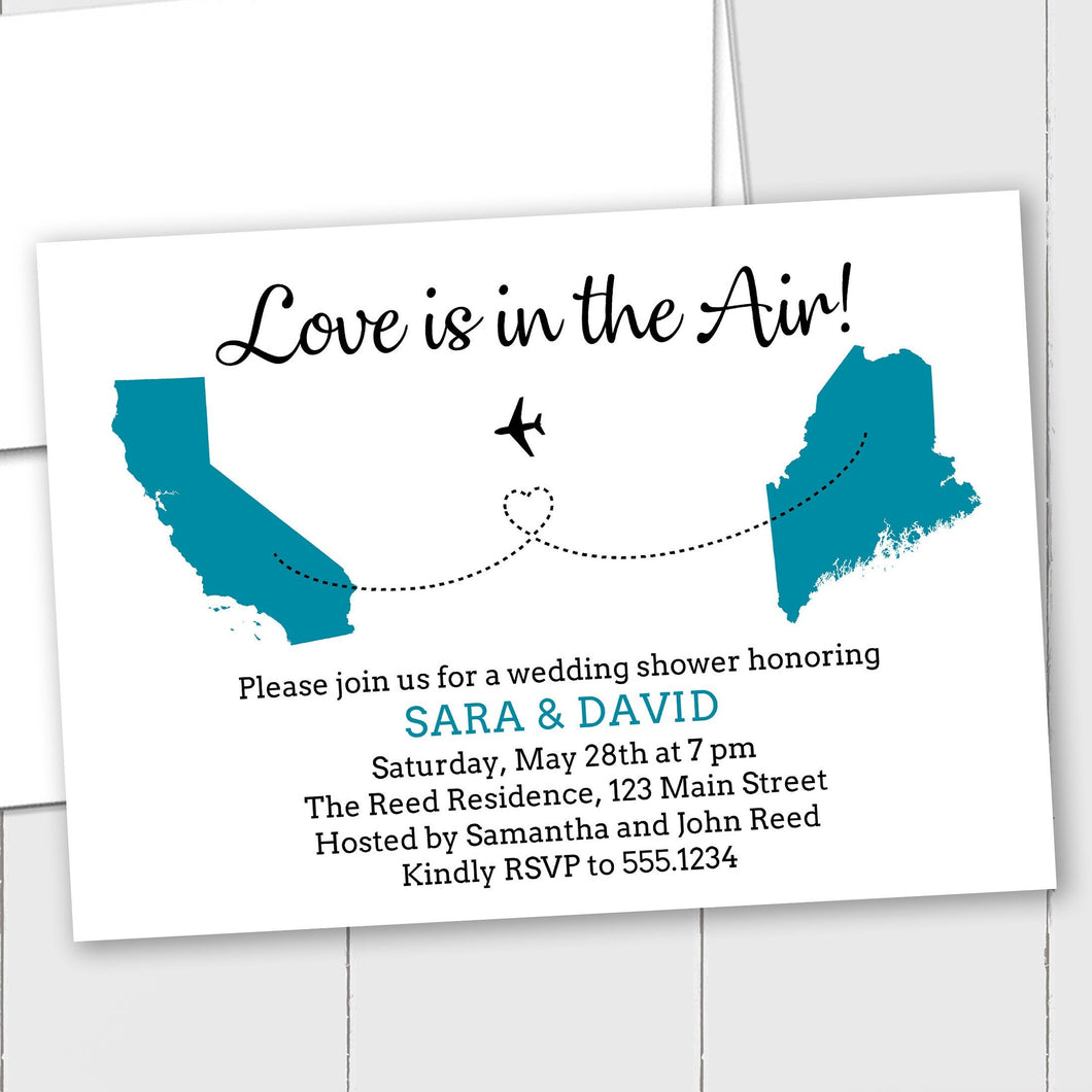 Destination Theme Wedding - Custom Invitation