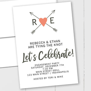 Heart and Arrows - Custom Invitation