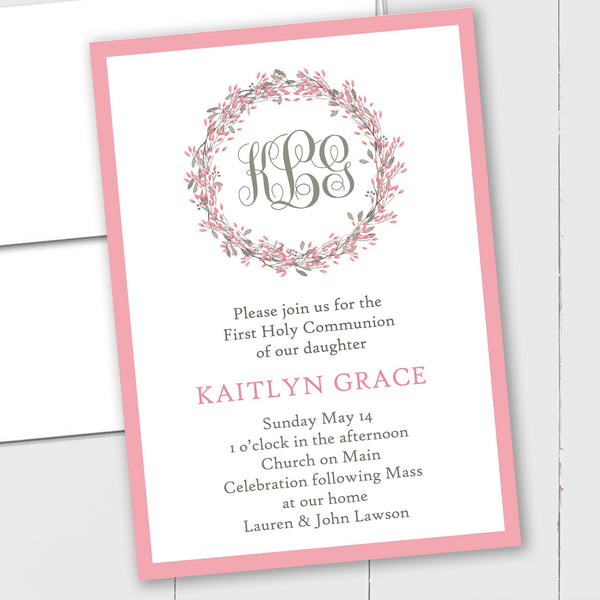 Monogram Floral - Custom Invitation