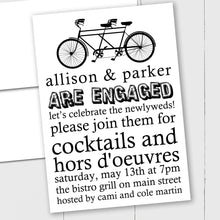 Load image into Gallery viewer, Tandem Bicycle - Custom Invitation