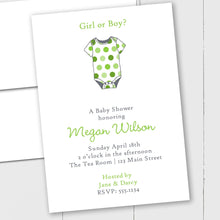 Load image into Gallery viewer, Polka Dotted Onesie - Custom Invitation