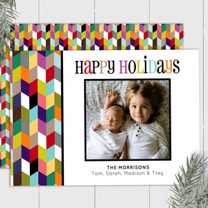 Colorful Chevron - Custom Photo Card