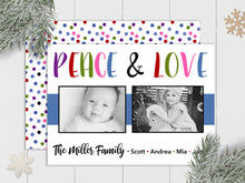 Load image into Gallery viewer, Peace and Love - Custom Photo Card