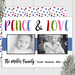 Peace and Love - Custom Photo Card