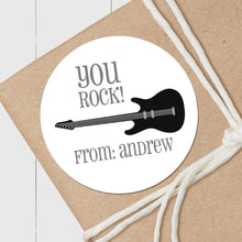 Load image into Gallery viewer, Rock Star Guitar - Round Gift Sticker