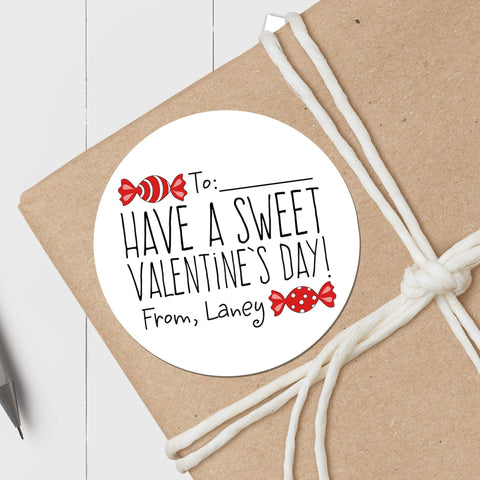 Sweet Valentine Candy - Round Gift Sticker