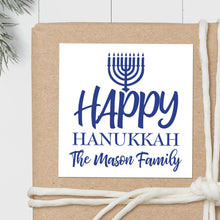 Load image into Gallery viewer, Hanukkah Menorah - Square Gift Sticker