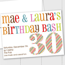 Load image into Gallery viewer, Colorful Birthday Bash - Custom Invitation