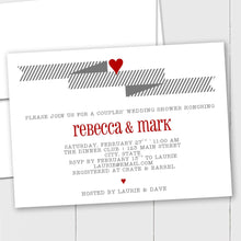 Load image into Gallery viewer, Wedding Banner and Heart - Custom Invitation