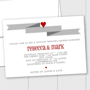 Wedding Banner and Heart - Custom Invitation