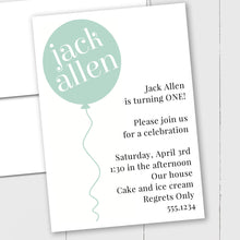 Load image into Gallery viewer, Birthday Balloon - Custom Invitation