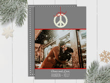 Load image into Gallery viewer, Peace Ornament - Custom Photo Card