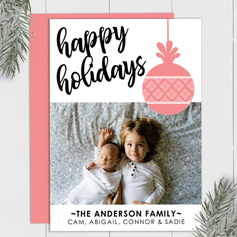 Argyle Ornament - Custom Photo Card