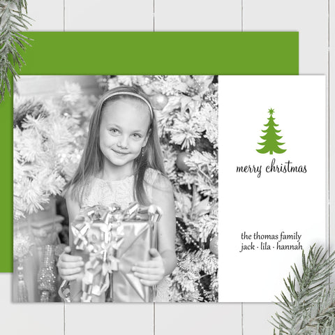 Christmas Tree - Custom Photo Card