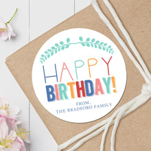 Load image into Gallery viewer, Birthday Branches - Round Gift Sticker