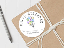 Load image into Gallery viewer, Birthday Balloons Pastel - Round Gift Sticker