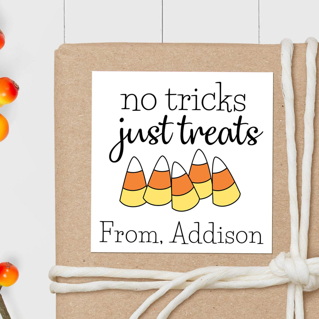Candy Corn - Square Gift Sticker