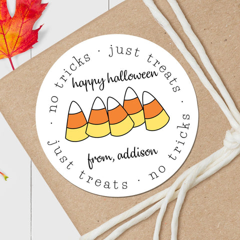 Candy Corns - Round Gift Sticker