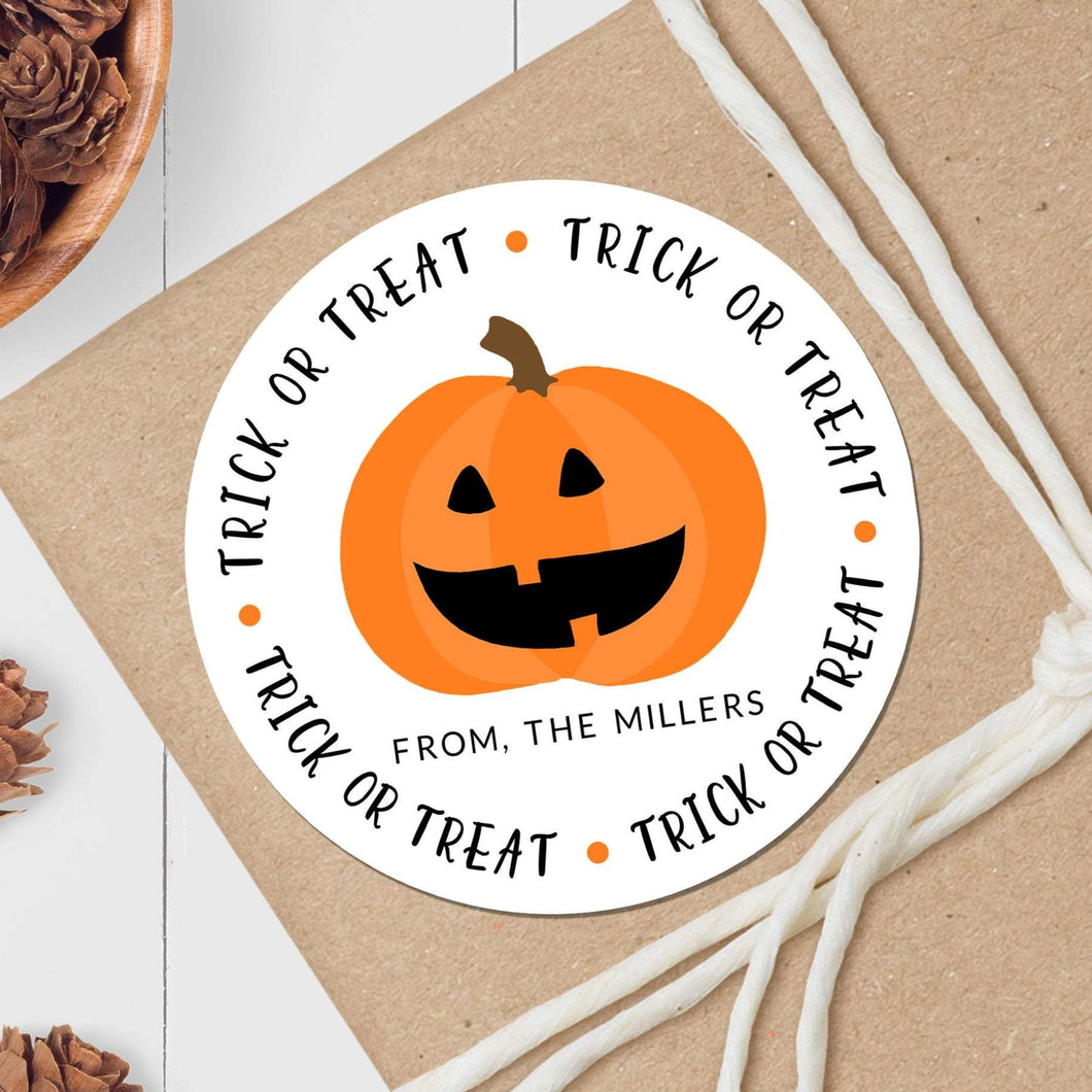 Pumpkin - Round Gift Sticker