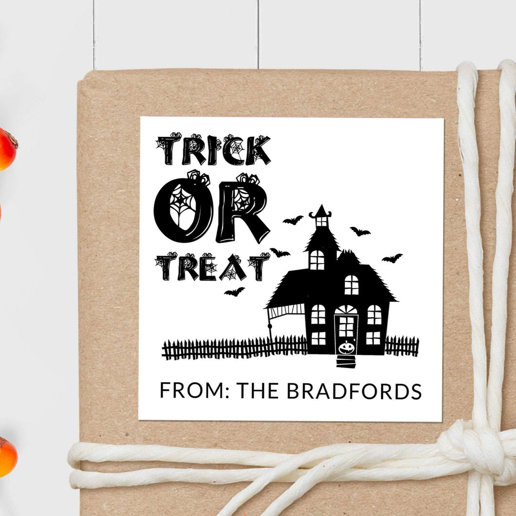 Haunted House - Square Gift Sticker